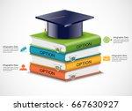 pile of 3d isometric books ... | Shutterstock .eps vector #667630927
