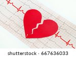 heart with electrocardiogram... | Shutterstock . vector #667636033