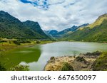 beautiful lagoon located in... | Shutterstock . vector #667650097