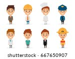 collection of people character... | Shutterstock .eps vector #667650907