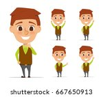 character of business man in... | Shutterstock .eps vector #667650913