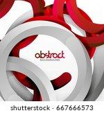 modern 3d geometrical style... | Shutterstock .eps vector #667666573