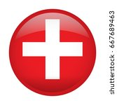 isolated flag of switzerland on ... | Shutterstock .eps vector #667689463
