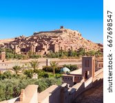 Small photo of Ait Ben Haddou (or Ait Benhaddou) is a fortified city along the former caravan route between the Sahara and Marrakech in Morocco