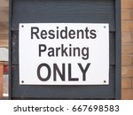 a black and white residents... | Shutterstock . vector #667698583