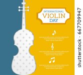 national violin day vector... | Shutterstock .eps vector #667709947