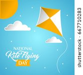 national flying kite day vector ... | Shutterstock .eps vector #667710283
