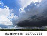 storm is coming  raining ahead... | Shutterstock . vector #667737133