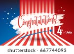 happy 4th of july independence... | Shutterstock .eps vector #667744093