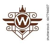 monogram logo template with...   Shutterstock .eps vector #667746607