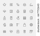bad habit line icons vector... | Shutterstock .eps vector #667752643