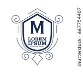 monogram logo template with...   Shutterstock .eps vector #667754407