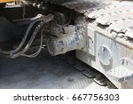 Small photo of track of crawler crane