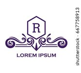 monogram logo template with...   Shutterstock .eps vector #667758913