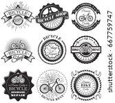 vector set of bicycle repair... | Shutterstock .eps vector #667759747