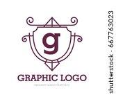 monogram logo template with...   Shutterstock .eps vector #667763023