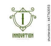 monogram logo template with...   Shutterstock .eps vector #667763053