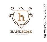 monogram logo template with...   Shutterstock .eps vector #667763077
