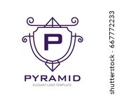 monogram logo template with...   Shutterstock .eps vector #667772233