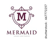 monogram logo template with...   Shutterstock .eps vector #667772257