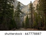 Yosemite Falls And Woods ...