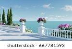 3d render from imagine ancient... | Shutterstock . vector #667781593