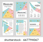 abstract vector layout... | Shutterstock .eps vector #667794067