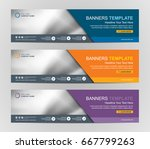 abstract web banner design... | Shutterstock .eps vector #667799263