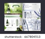 avocado and salvia themed... | Shutterstock .eps vector #667804513