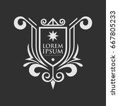 monogram logo template with...   Shutterstock .eps vector #667805233