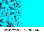 light blue  green vector... | Shutterstock .eps vector #667813537