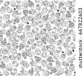 seamless pattern of hand drawn... | Shutterstock .eps vector #667822603