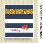 invitation card. happy birthday ... | Shutterstock .eps vector #667827523