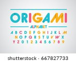 vector of abstract paper font... | Shutterstock .eps vector #667827733
