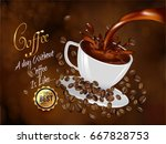 nice and creative coffee brand... | Shutterstock .eps vector #667828753