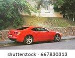 muscle car   dream car.... | Shutterstock . vector #667830313