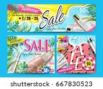 bright banner designs with... | Shutterstock .eps vector #667830523
