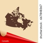 map of canada | Shutterstock .eps vector #667848367