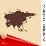map of asia | Shutterstock .eps vector #667848403