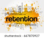 retention word cloud collage ... | Shutterstock . vector #667870927