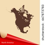map of north america | Shutterstock .eps vector #667873783
