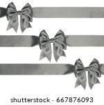 beautiful gray bow on... | Shutterstock . vector #667876093