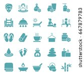 set of spa icons. vector... | Shutterstock .eps vector #667879783