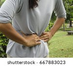 woman painful abdominal area. | Shutterstock . vector #667883023