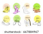 vector illustration of set hand ... | Shutterstock .eps vector #667884967