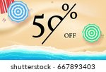selling ad banner  vintage text ... | Shutterstock .eps vector #667893403