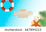 enjoy summer holiday background.... | Shutterstock .eps vector #667894213