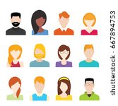 people icons set | Shutterstock .eps vector #667894753