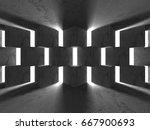 dark concrete empty room....   Shutterstock . vector #667900693
