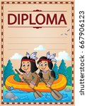diploma concept image   eps10... | Shutterstock .eps vector #667906123
